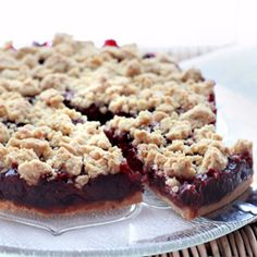 Cherry streusel cake. Absolutely delicious. #foodgawker