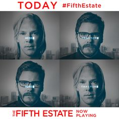 """Playing NOW The """"The Fifth Estate"""" reveals the quest to expose the deceptions and corruptions of power that turned an Internet upstart into the century's most fiercely debated organization. All Movies, Disney Movies, The Fifth Estate, Daniel Bruhl, In Theaters Now, The Mentalist, Get Tickets, Us History, Benedict Cumberbatch"""