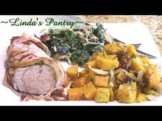 ~Bacon Wraped Pork Tenderloin Week Night Meal With Linda's Pantry~ - YouTube