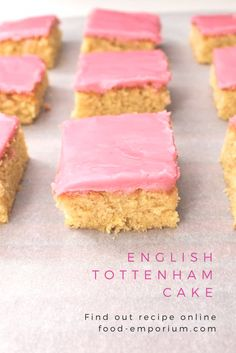 English+tottenham+cake Petit four cake for high tea. Find our recipe online. Baking Recipes, Cookie Recipes, Dessert Recipes, Desserts, Uk Recipes, Tart Recipes, Apple Recipes, Baking Ideas, Kitchen Recipes