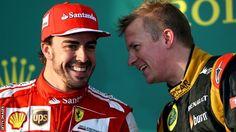 """Fernando Alonso and Kimi Raikkonen, The Ferrari """"dream team"""""""