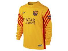 2015/16 FC Barcelona Stadium Goalkeeper (8y-15y) Older Kids' Football Shirt