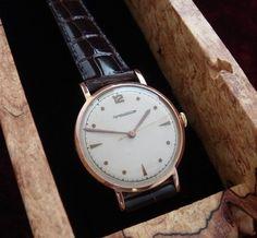 MEN'S Attractive '40s ERA Jaeger Lecoultre 18K Gold Wrist Watch Serviced | eBay