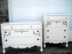 1930's shabby painted dressers
