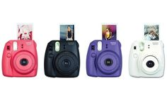 Fujifilm Instax Mini 8 Instant Film Camera This compact film camera is perfect for parties and street photography, churning out miniature prints in a flash. Instax Mini 8 Camera, Fujifilm Instax Mini 8, Camara Fujifilm, Instant Film Camera, Shutter Speed, Card Sizes, How To Take Photos, Fotografia