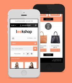 LookShop - Free Responsive PSD Template by Pavel Capcan, via Behance