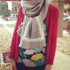 Cozy Scarf With Warm Sweater