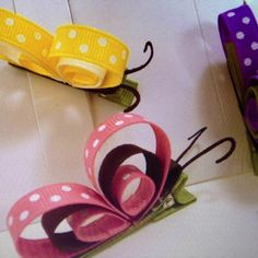 Butterfly barrettes.
