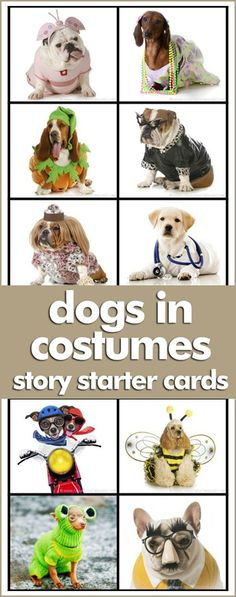 Dog is Costumes Story Starters ~ Hilarious writing prompts for young children! Free Printables!