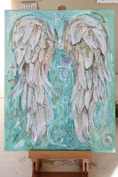 Angel Wings Painting Custom order your own special set of rezepte mittagessen baby 1 jahr baby 10 monate baby led weaning Angel Wings Art, Angel Wings Painting, Angel Art, Angel Paintings, Art Floral, Antique Books, Antique Art, Baby Led Weaning, Biology Art