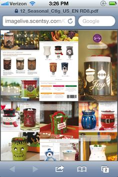 Holiday brochure for Scentsy www.teresarausch.scentsy.us