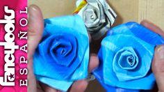 Haz rosas reciclando bolsas supermercado-Reciclaje DIY