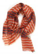 Stripes on Stripes Scarf: Orange