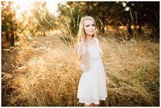 Taken by Portland senior photographer Katy Weaver Girl Senior Pictures, Senior Photos, Photo Location, Girl Poses, Cooper Mountain, White Dress, High Neck Dress, Portland, Wedding