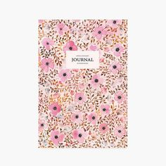 Journalnotebook  diary flowers pattern floral by SoniaCavallini