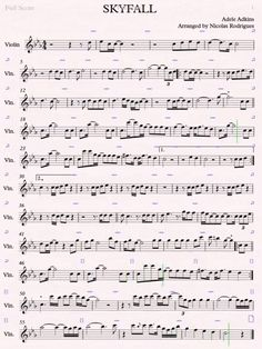 Violin - SkyFall - Sheet Music