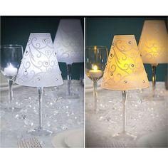 15th on pinterest paris party paris theme and paris for Wine glass lamp centerpiece