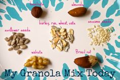 - Always so many possible combinations. Make Your Own Granola, Possible Combinations, Rye, Almond, Make It Yourself, Baking, How To Make, Recipes, Food