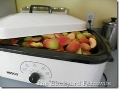 super easy applesauce in roaster...this is how I do it every year and it always turns out perfect!!