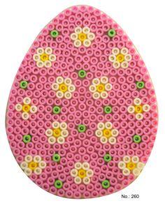 Easter pink egg hama perler pattern - HAMA