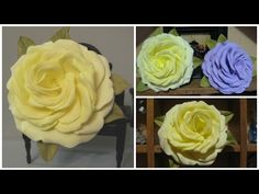 Роза из фоамирана без молдов из 30 лепестков. Мастер класс. Foam rose - YouTube
