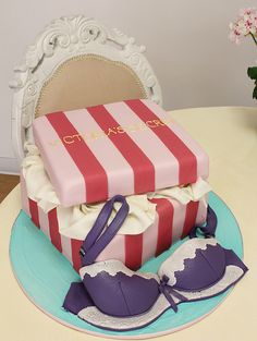 what a perfect bachelorette or wedding shower cake. i love this!!