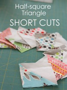 Half-square-triangle short-cuts and easy square-up - Diary of a Quilter shows how to use a simple Quilt in a Day ruler to improve accuracy and efficiency with HSTs. Quilting Tips, Quilting Tutorials, Machine Quilting, Quilting Projects, Beginner Quilting, Quilting Templates, Sewing Projects, Triangle Quilt Tutorials, Quilting Board