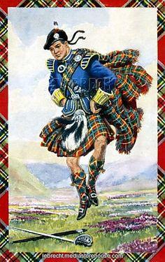 Scottish dancer wearing kilt - 'The Sword Dance'