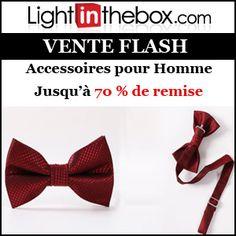 #missbonreduction; Vente Flash : jusqu'à 70 % de remise sur les Accessoires pour Homme chez Light in the box.http://www.miss-bon-reduction.fr//details-bon-reduction-Light-in-the-box-i852558-c1831292.html