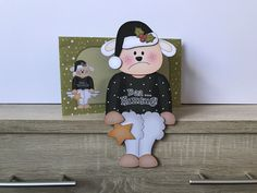 Excited to share this item from my shop: Grumpy christmas card, Baa humbug in black, scrooge, christmas on the shelf card, decoration and envelope Handmade Envelopes, Folded Up, All Design, Christmas Cards, Shelf, Santa, Etsy Shop, Decoration, Day