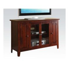 A&J Homes Studio Mike TV Stand Finish: Cherry