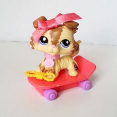 Littlest Pet Shop RARE Collie 2210 AUTHENTIC 2007 Lana Lawrence Vacation set HTF #Hasbro