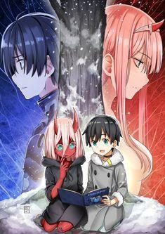 Zero Two and Hiro Anime: Darling in the Franxx – otaku Manga Anime, Otaku Anime, Manga Art, Anime Art Girl, Anime Girls, Photo Manga, Zero Two, Cute Anime Wallpaper, Darling In The Franxx