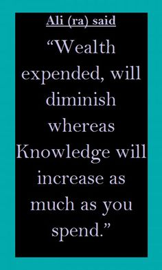 Wealth and Knowledge (Islam)