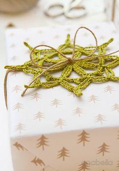 Crochet Christmas wrapping