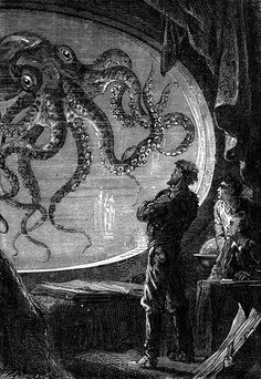 "floserber: "" Alphonse de Neuville's engravings for 20000 Leagues Under the Sea by Jules Vernes. """