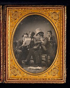 California News, c. 1850, daguerreotype; Gabriel Harrison (1818-1902)