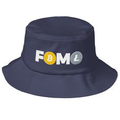925d7ed4a701e Items similar to FOMO Bitcoin Litecoin Trader Bucket Hat Fear Missing Out  Cryptocurrency Fisherman Cap Crypto Logo Sessions on Etsy