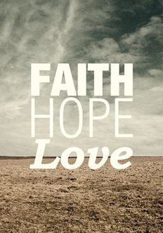 Faith Hope Love  Limited Edition Quote Art Print von Promopocket, $45.00