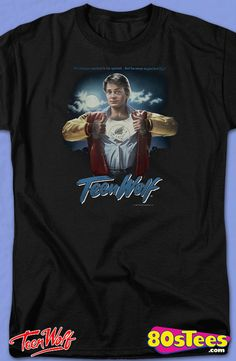 Movie Poster Teen Wolf T-Shirt: Teen Wolf Mens T-Shirt.  Teen Wolf Geeks:   Enjoy the comfort of home or travel the great outdoors in this men's style shirt that has been designed and illustrated with great art.