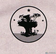 New tattoo idea. Gorillaz - Plastic Beach. Art found in the Escape to Plastic Beach Tour book 2010