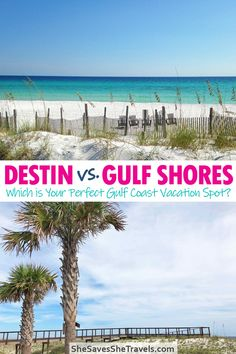 Looking for the perfect Gulf Coast vacation? In the battle between Destin, Florida and Gulf Shores, Alabama, this guide helps you choose the best beach vacation in the USA for you. Includes the best things to do along the Gulf Coast in Destin and Gulf Shores, as well as price comparison and more! | Gulf Coast USA | Gulf Coast Vacation | Destin Florida | Gulf Shores Alabama | Gulf Coast Beaches Usa Travel Map, Florida Travel, Canada Travel, Destin Florida, Places To Travel, Travel Destinations, Travel Tips, Travel Info, Travel Guides
