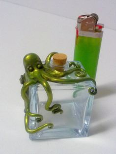 Sculpted Octopus Perfume Bottle by TheNamelessShop on Etsy, $15.00