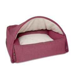 Kona Cave - The Ultimate Luxurious Dog Gift. Get your best friend this super soft and cozy, gorgeous dog bed.  Add some color to the cold winder days and nights with this bright and beautiful Snuggle Cave Bed.  Amazing.  Toll. Höhlenbett - (Hot Pink Fischgrätmuster)