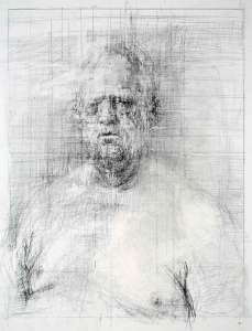 """""""Peter"""" 14 x 11 inches graphite on paper, 2014 image courtesy of the artist"""