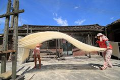 drying noodles #Taiwan 台灣
