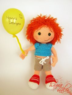 PATTERN - Orange Head  (crochet, amigurumi)