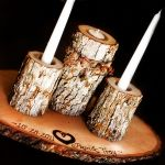 vintage wood candle arrangements - Bing Images
