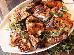 A Double Dose of Marinade Gives Greek-Style Grilled Chicken Extra Flavor