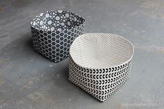 DIY Reversible Fabric Storage Bins